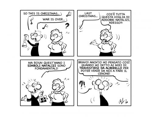 """La vignetta: """"Simboli natalizi!"""""""