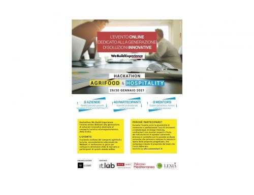"Sicilia, ""We Build Experience"": evento on line dedicato all'Agrifood e all'Hospitality"