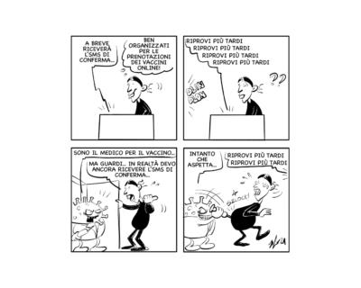 """La vignetta: """"Nel frattempo…!"""