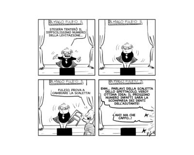 """La vignetta: """"Esperimento sensazionale!"""""""