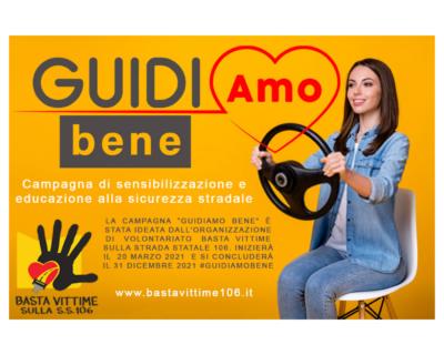 """Calabria, """"Basta Vittime sulla S.S. 106"""": parte la campagna """"Guidiamo Bene"""""""