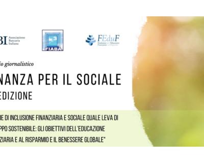 """La sesta edizione del Premio giornalistico """"Finanza per il sociale"""""""