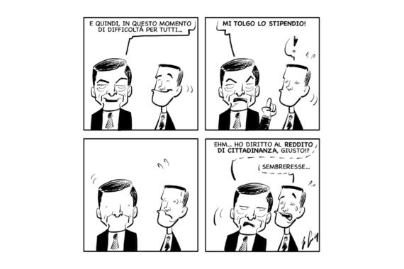 "La vignetta: ""Stipendi…"""