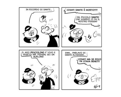 "La vignetta: ""Gironi infernali di omonimie!"""