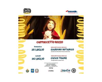"""Lamezia Terme, rassegna estiva TeatroP: """"Cappuccetto Rozzo"""""""