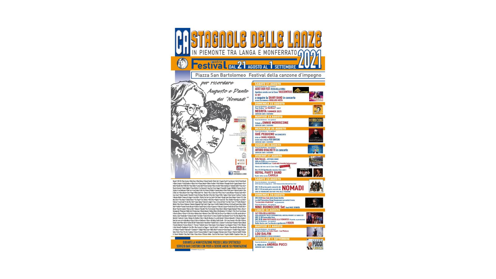 A Castagnole delle Lanze il Festival Contro 2021