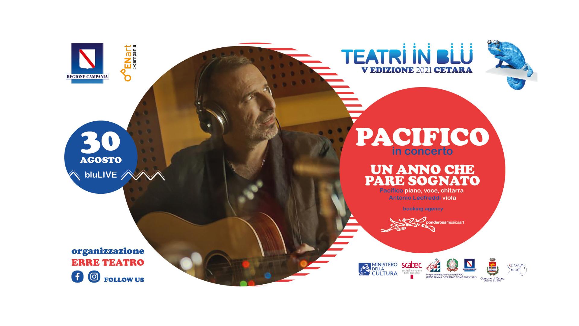 Teatri in Blu, stasera a Cetara il concerto di Pacifico