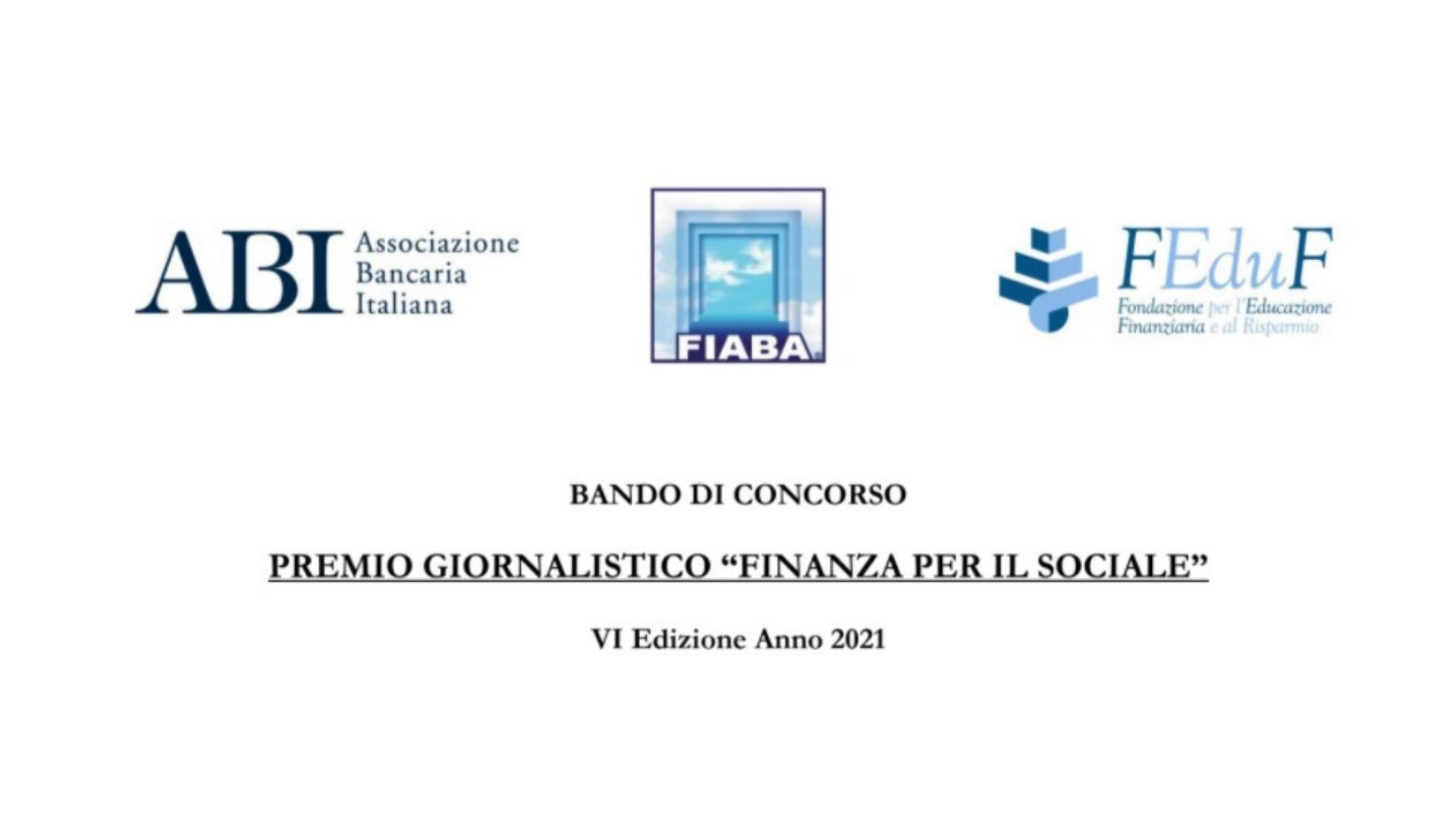 """VI Premio giornalistico """"Finanza per il sociale"""", c'è tempo fino all'11/09 per partecipare"""