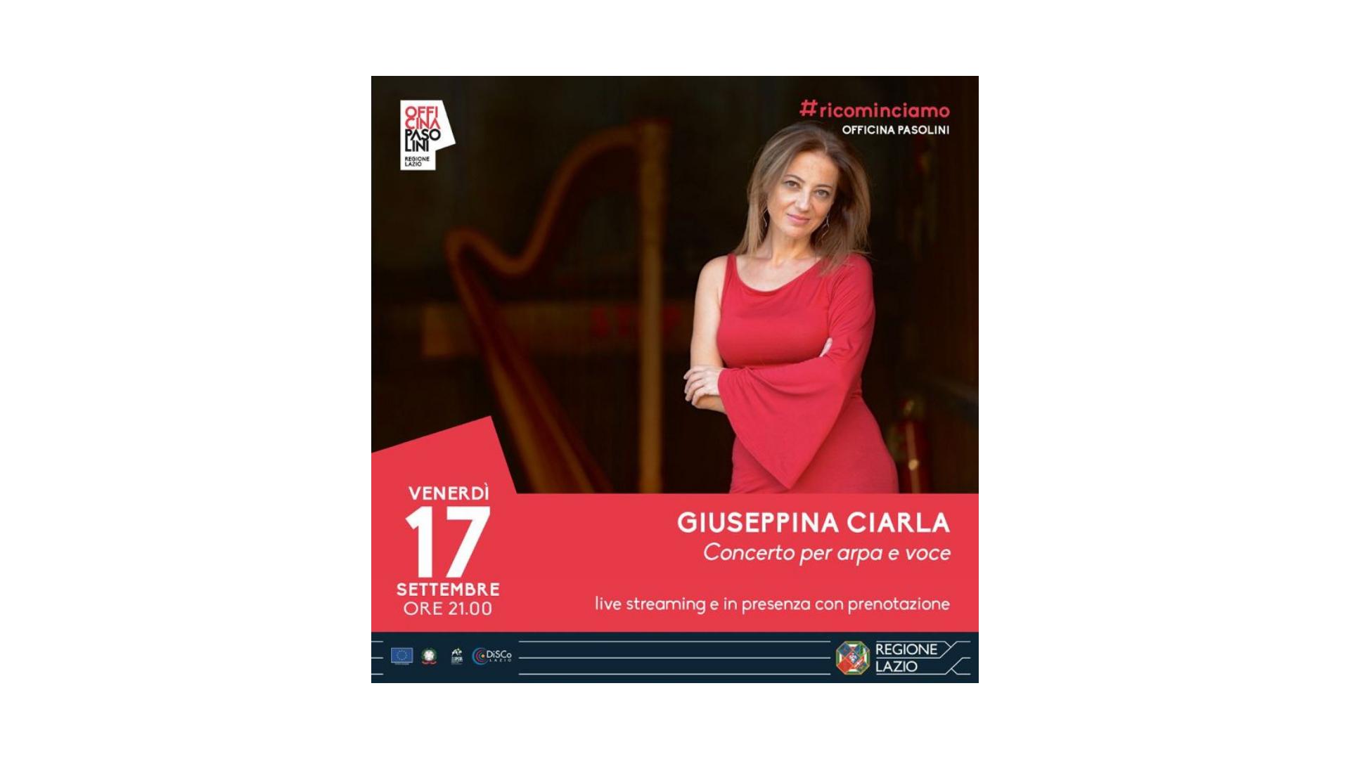 Giuseppina Ciarla, il concerto all'Officina Pasolini
