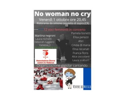 """No woman no cry"", musica per dire basta alla violenza"