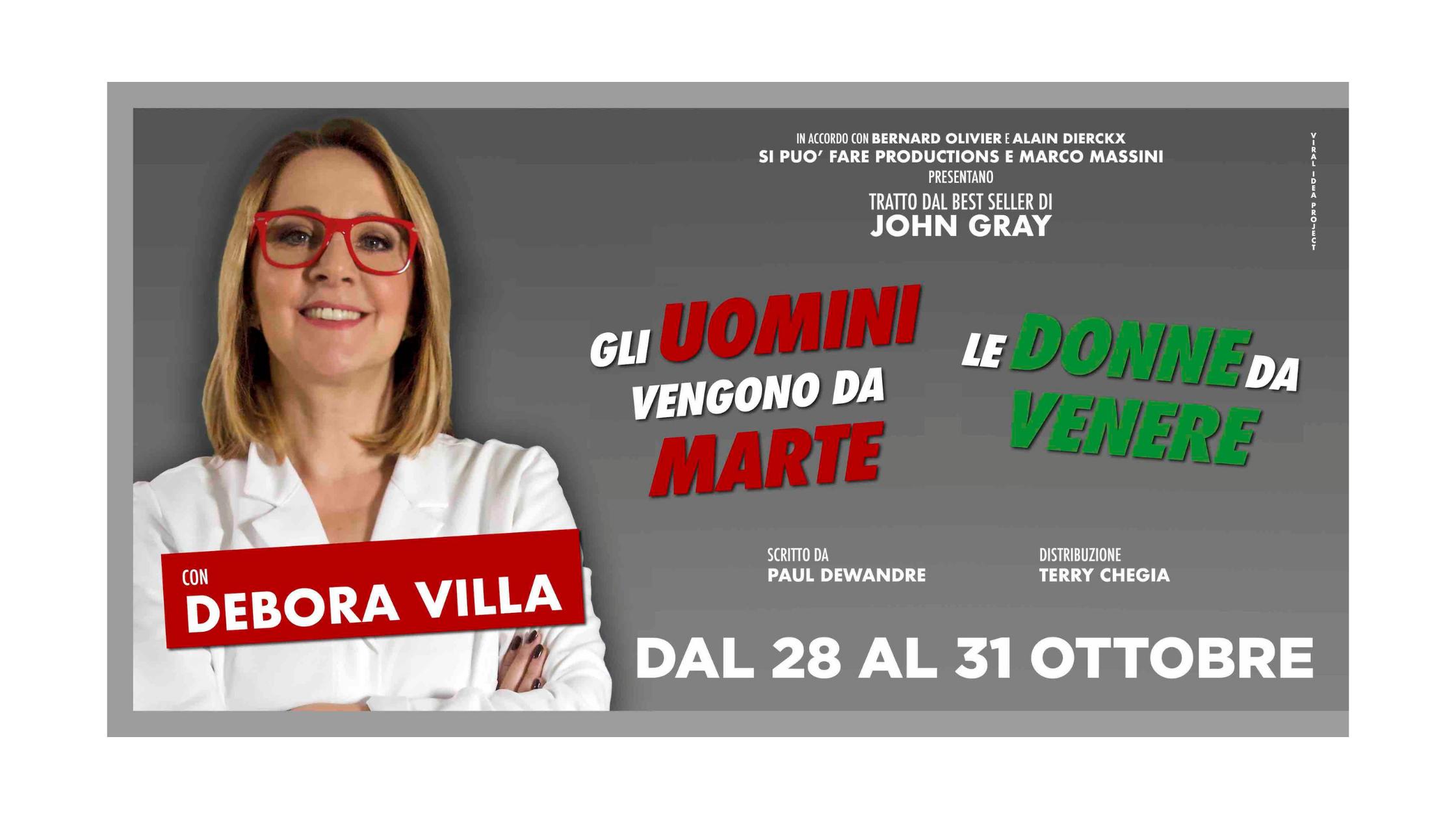 """Milano. Al Teatro Manzoni Debora Villa con """"Gli uomini vengono da Marte, le donne da Venere"""""""